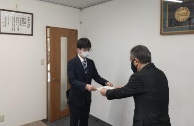令和3年入社式を開催いたしました。